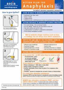 ASCIA Action Plan for Anaphylaxis Orange